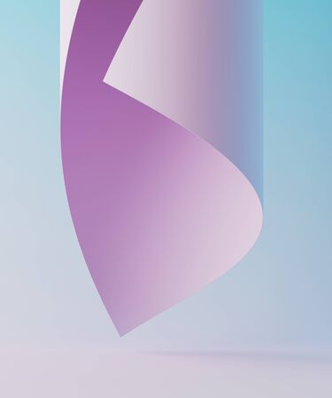 Photo pour Minimal background for cosmetic branding and packaging presentation. Stage pastel colors. 3d illustration - image libre de droit