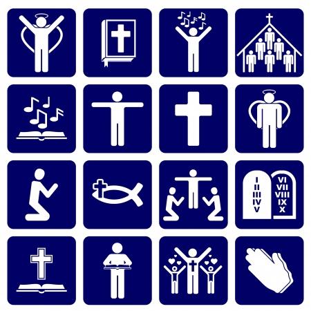 Illustration pour icons of religious - image libre de droit