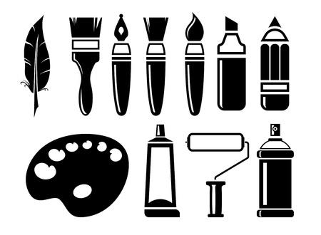 Illustration for art Icons set - Royalty Free Image