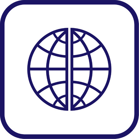 Vector globe icon. Simply change.