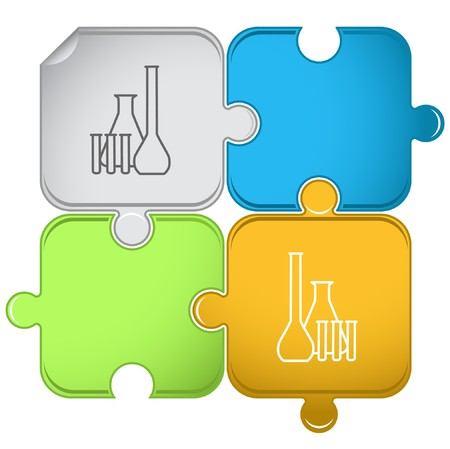 Chemical test tubes puzzle.