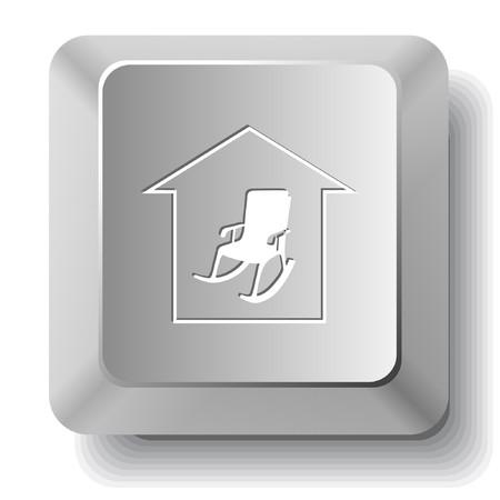 Home comfort. computer key.