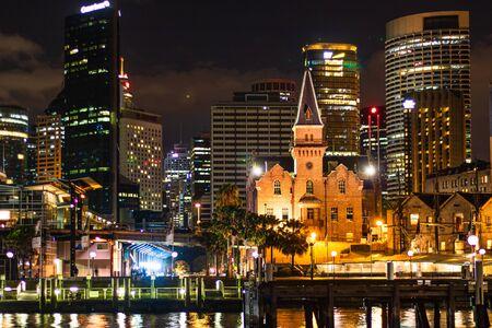 Foto für Downtown at night at the waterfront in Sydney harbor. Sydney, Australia, 2019. - Lizenzfreies Bild