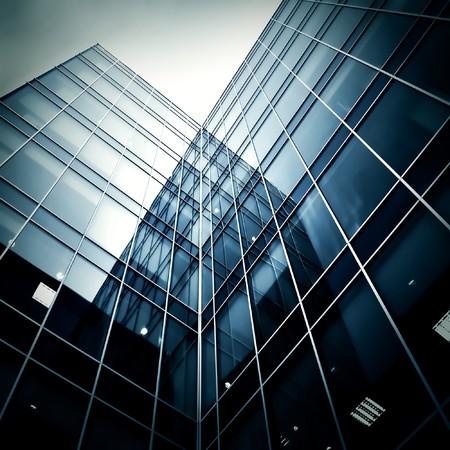Photo pour glass skyscrapers at night - image libre de droit