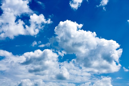 beautiful blue-sky with clouds