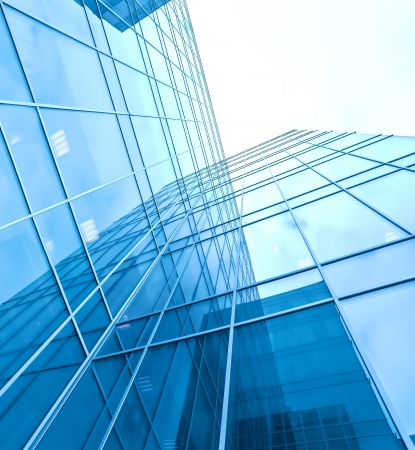 turquoise glass high-rise corporate building