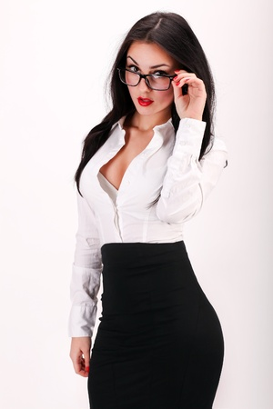 Portrait of sexy and confident business womanの写真素材