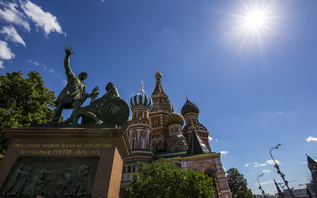 Cathedral of Intercession of Most Holy Theotokos on the Moat ( Temple of Basil the Blessed), Red Square, Moscow, Russia