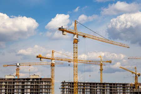 Photo pour View of construction site, industrial image. Moscow, Russia - image libre de droit