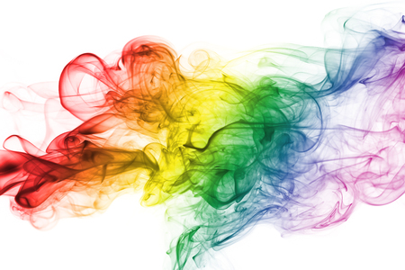 Colorful rainbow smoke, gay pride flag colors, LGBT community flag