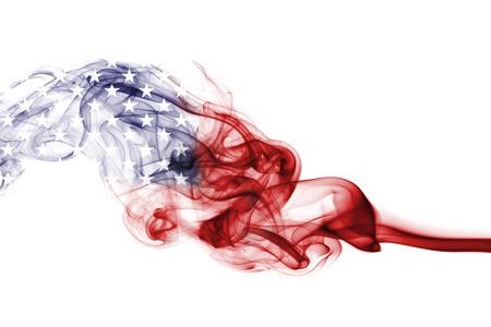 Photo pour United States flag smoke, US flag - image libre de droit
