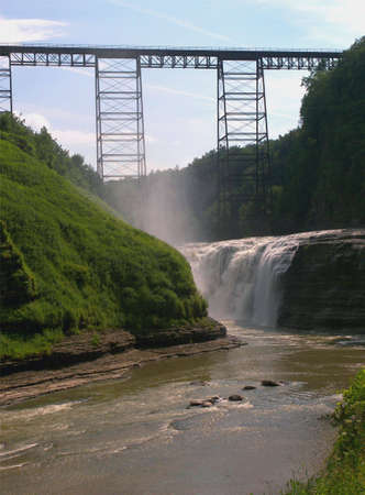 this photo was taken at letchworth state park upper falls NW NY state.