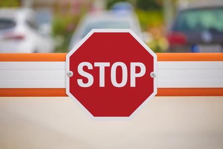 Photo pour Stop Traffic Sign - image libre de droit