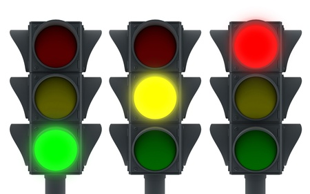 Traffic lights icon (3d, isolated)