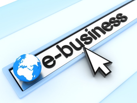 Abstract assress line, E-business  (done in 3d)
