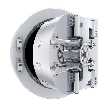 Photo pour Banking metallic door, vault (done 3d)     - image libre de droit