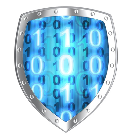 Shield security  done in 3d, isolated
