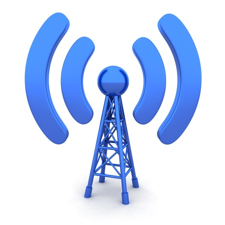 Photo for Abstract Antenna on white background (done in 3d)  - Royalty Free Image