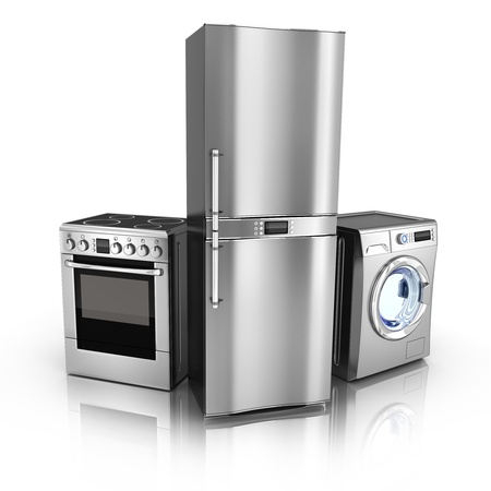 Consumer electronics Fridge,washer and electric-cooker  done in 3d