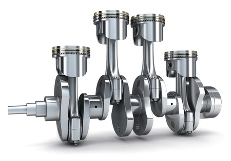Crankshaft and pistons (done in 3d)