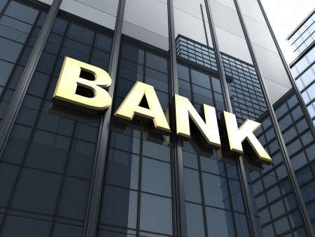 Building and note bank  done in 3d