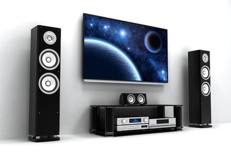 Home-cinema modern  done in 3d