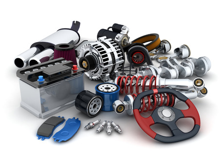 Many auto parts (done in 3d)