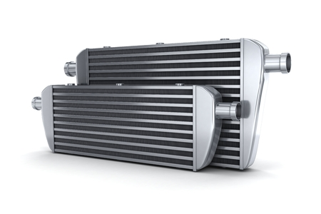 Car intercooler (done in 3d, on white background)