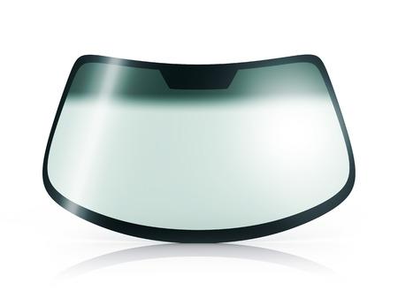 Photo pour Car glass on white background (done in 3d) - image libre de droit