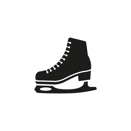The skates icon. Figure skates symbol. Flat Vector illustration