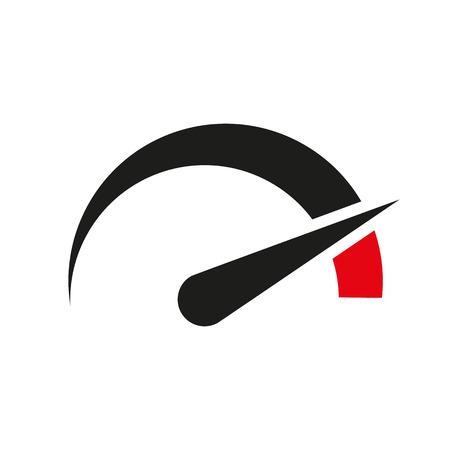 Illustration pour The tachometer, speedometer and indicator icon. Performance measurement symbol. Flat Vector illustration - image libre de droit