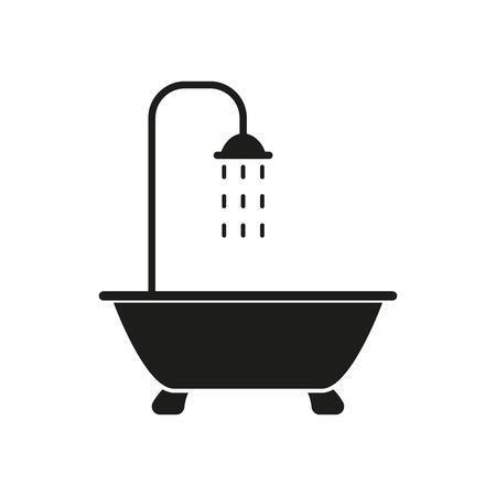 Illustration for The shower icon. Bathroom symbol. Flat Vector illustration - Royalty Free Image