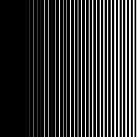 Ilustración de Gradient lines seamless background vector pattern, vertical black stripes, parallel white lines from thick to thin - Imagen libre de derechos