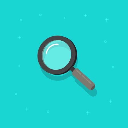 Illustration pour Magnifying glass vector icon, flat cartoon magnifier - image libre de droit