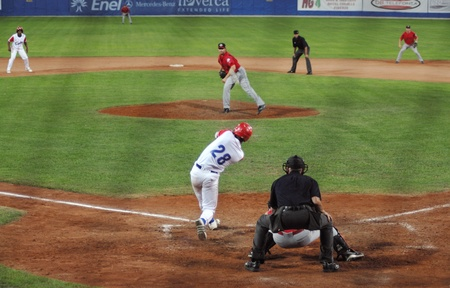 mage of the game betwen Canada and Cuba in the baseball worldcup.Cuba was the winner,5x1,and pass to the final with USA.のeditorial素材
