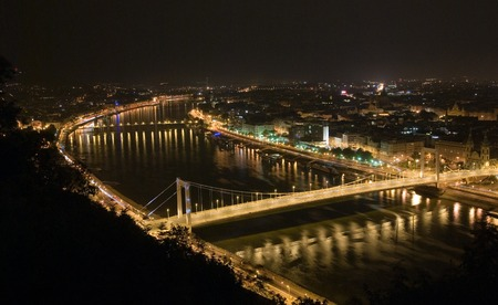 Danube river from Gellert hill in Budapest