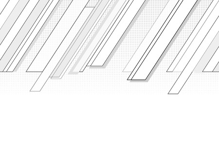 Follow-up diagonal cornered grey graphic with halftone.