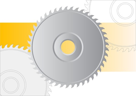 Circular saw isolated on the white.