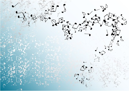 blue music background with notes