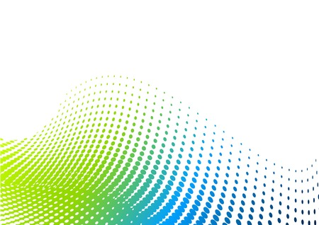 green and blue halftone background