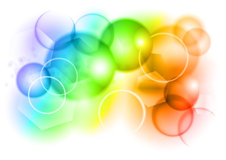 Illustration pour bubble abstract background in rainbow color - image libre de droit