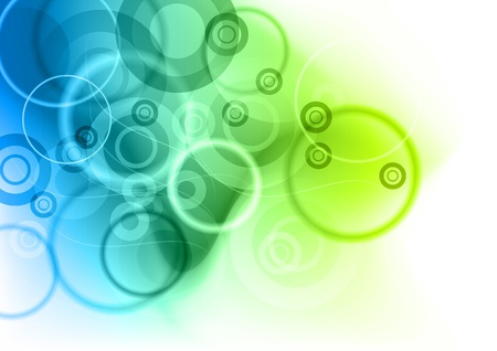 Illustration pour blue and green abstract background - image libre de droit