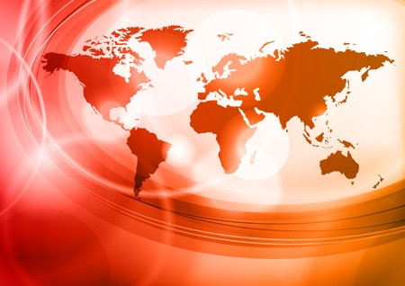 Illustration for red map of the world - Royalty Free Image