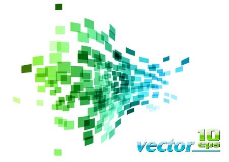 Illustration pour green and blue wave square - image libre de droit