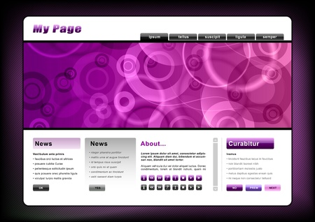 web template in the purple