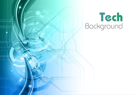 Ilustración de blue and green tech background - Imagen libre de derechos