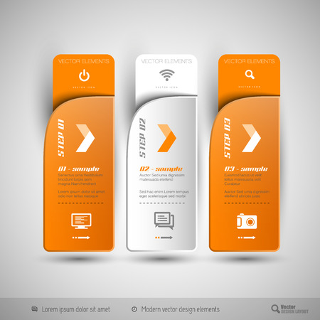 Modern design elements for infographics, print layout, web pages.