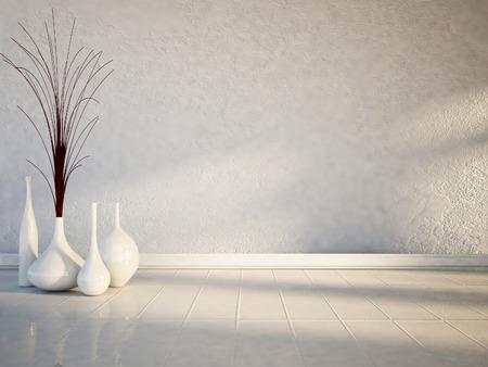 Foto de many white vases on the white floor - Imagen libre de derechos