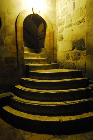 Stairs in the Holy Sepulchre Church in Jerusalem