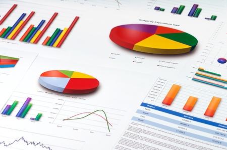 Foto de Graphs and Charts Report - Imagen libre de derechos
